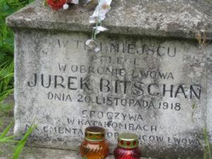 Cmentarz Łyczakowski - tu poległ Jerzy Bitschan
